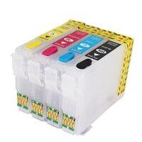 Epson T2971 için doldurulabilir mürekkep kartuşu Epson XP231 XP431 XP-241 mürekkep püskürtmeli yazıcı kartuşu bir kez cips ile