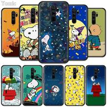 Cute Space Puppy Charlie Brown Fitted Case for Xiaomi Redmi Note 8T 6 7 8 K20 Pro 8A 7A 7S 6A Silicone Black Phone Bag Cover Coq