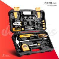 DEKO-conjunto de herramientas carpintería profesional edc, destornillador, tijeras, cuchillo,herramientas mecánicas, Kit con caja de herramientas de mano, multiherramienta, 62 Uds.maletin herramienta