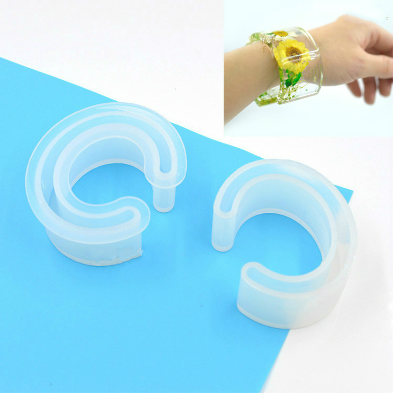 Resin Bangle Bracelet Silicone Mold Flexible Jewelry Mould Epoxy Resin Mold Supplies DIY Jewellery Craft Tool Big Size DIY Tool