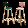 Скандинавский роскошный барный стул Ins  барный стул  простой модный барный стул  задняя стойка  высокая стойка  золотой интернет красная бар...