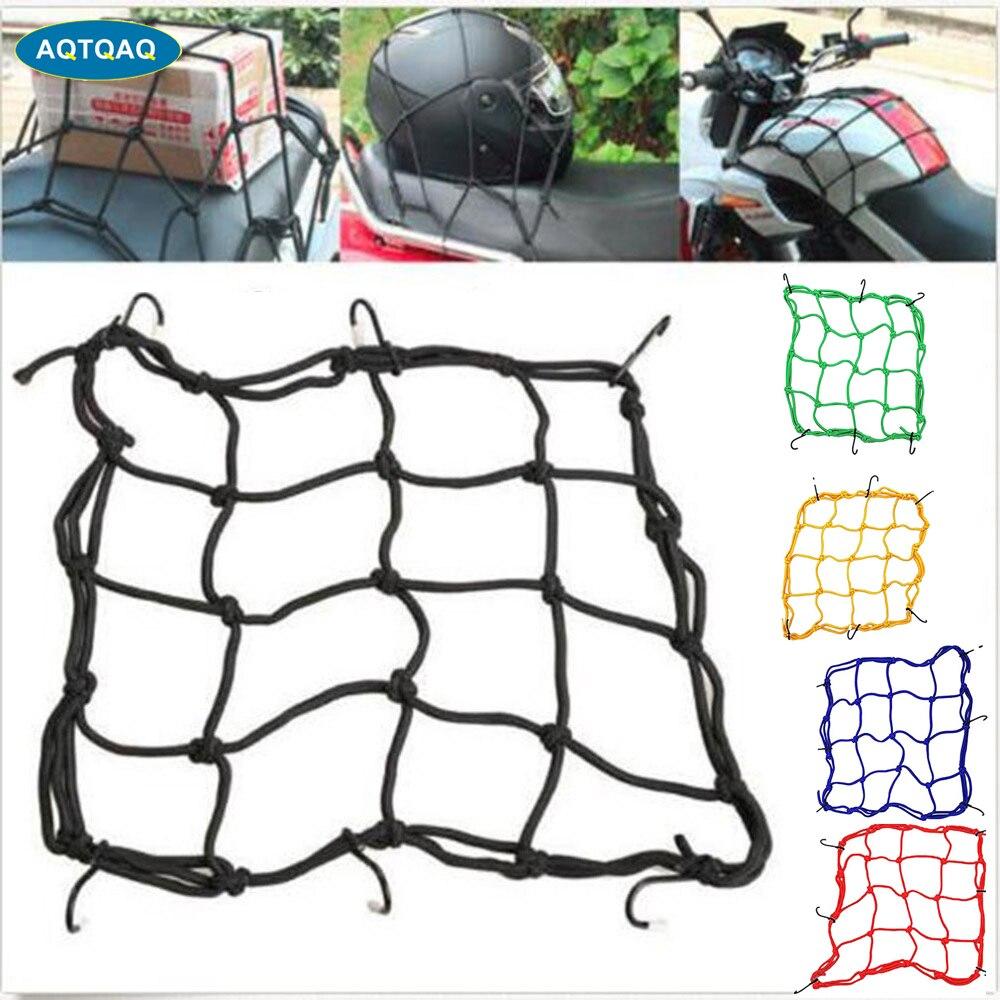 6 Hooks Hold Down Travel Cargo Goods Luggage Mesh Motorcycle Helmet Net Network