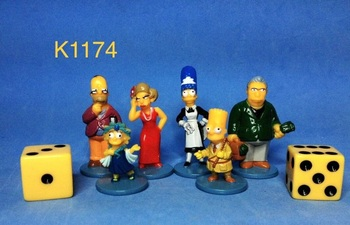 6pcs/set Simpsoned Action Figures Toys PVC 3-4.5CM Collection for Gift Children Birthday and home decoration 1