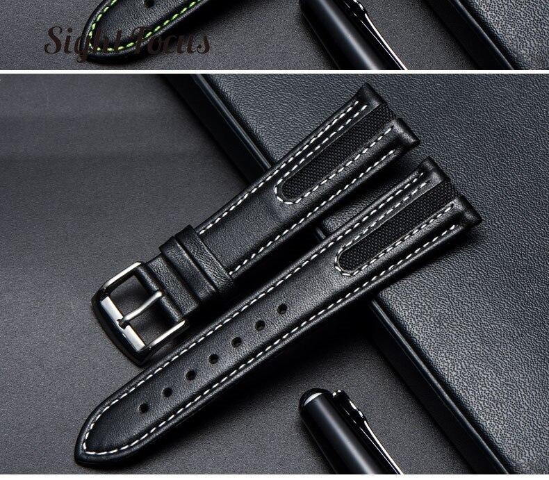 couro bezerro pulseiras relogio masculino orologio reloj
