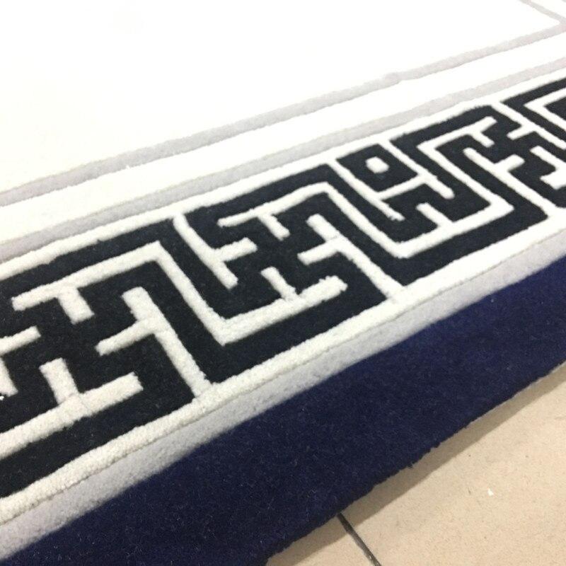 2019 nouvelle haute qualité à la main acrylique tapis chambre/salon ordinateur bureau tapis taille personnalisée - 5