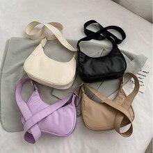 Mode femmes couleur unie en cuir sac à bandoulière PU femme quotidien sacs à bandoulière populaire Simple femme sac quotidien