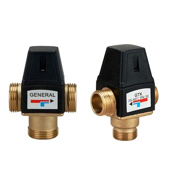 3 Way Mixing Valve Male Thread Brass Thermostatic Valve for Solar Water Heater 19QB free shipping g 1 2 dn15 brass automatic thermostatic valve conceal install thermostatic valve solar water heater valve