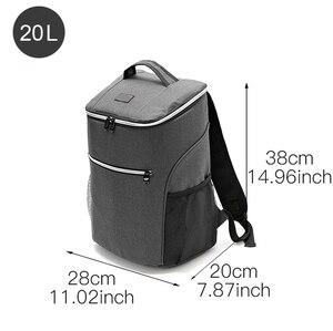Image 2 - Mochila de enfriamiento aislante de 20L, bolsa térmica para el refrigerador Bento, bolsa para Picnic al aire libre, mochila para el almuerzo, para viaje de Camping