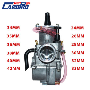 Carburador para 2T 4T Universal Park Koso OKO de la motocicleta Carburador 21 24 26 28 30 32 34 40mm con poder Jet para Motor de carreras de