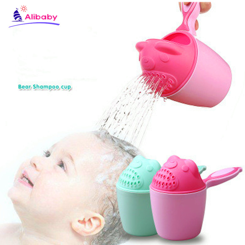 2019 Baby Bath Waterfall Rinser Kids Shampoo Rinse Cup Bath Shower Washing Head Kids Washing Hair Eye Shield Shampoo Bath Tool