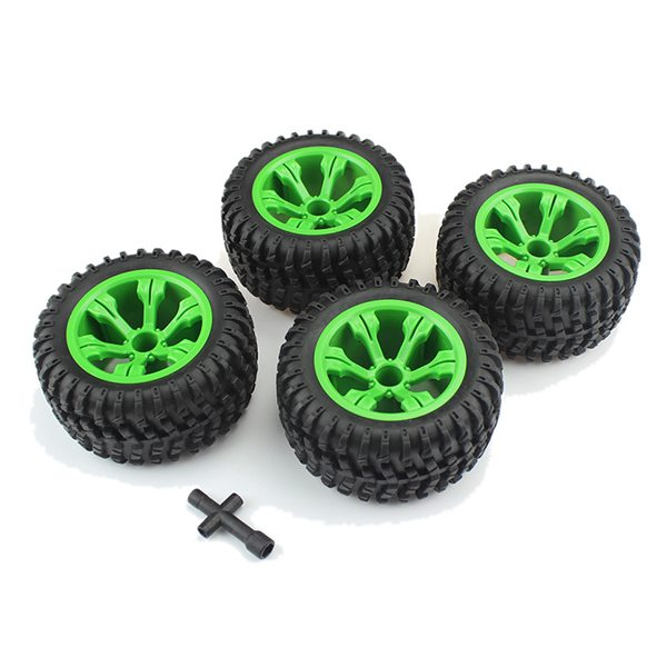 4Pcs General 110mm Tires for Q39 Q40 Q46 <font><b>WLtoys</b></font> 12428 L959 <font><b>12404</b></font> FY-03 FY-04 1/12 High-Speed Off-Road RC Car RC Parts image