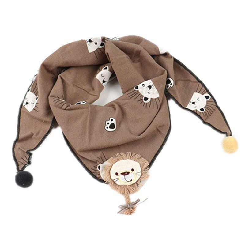 Весенние клетчатые треугольные шарфы в горошек для маленьких девочек; осенне-зимняя шаль для мальчиков и девочек; Детские хлопковые воротники; теплый детский шейный платок - Цвет: B3