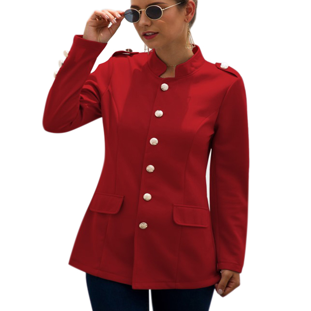 England Style Women Blazer Single Breasted Blaser Feminino Slim Fit Button Jackt Ladies Offices Blazer Casual Femme Jacket D30