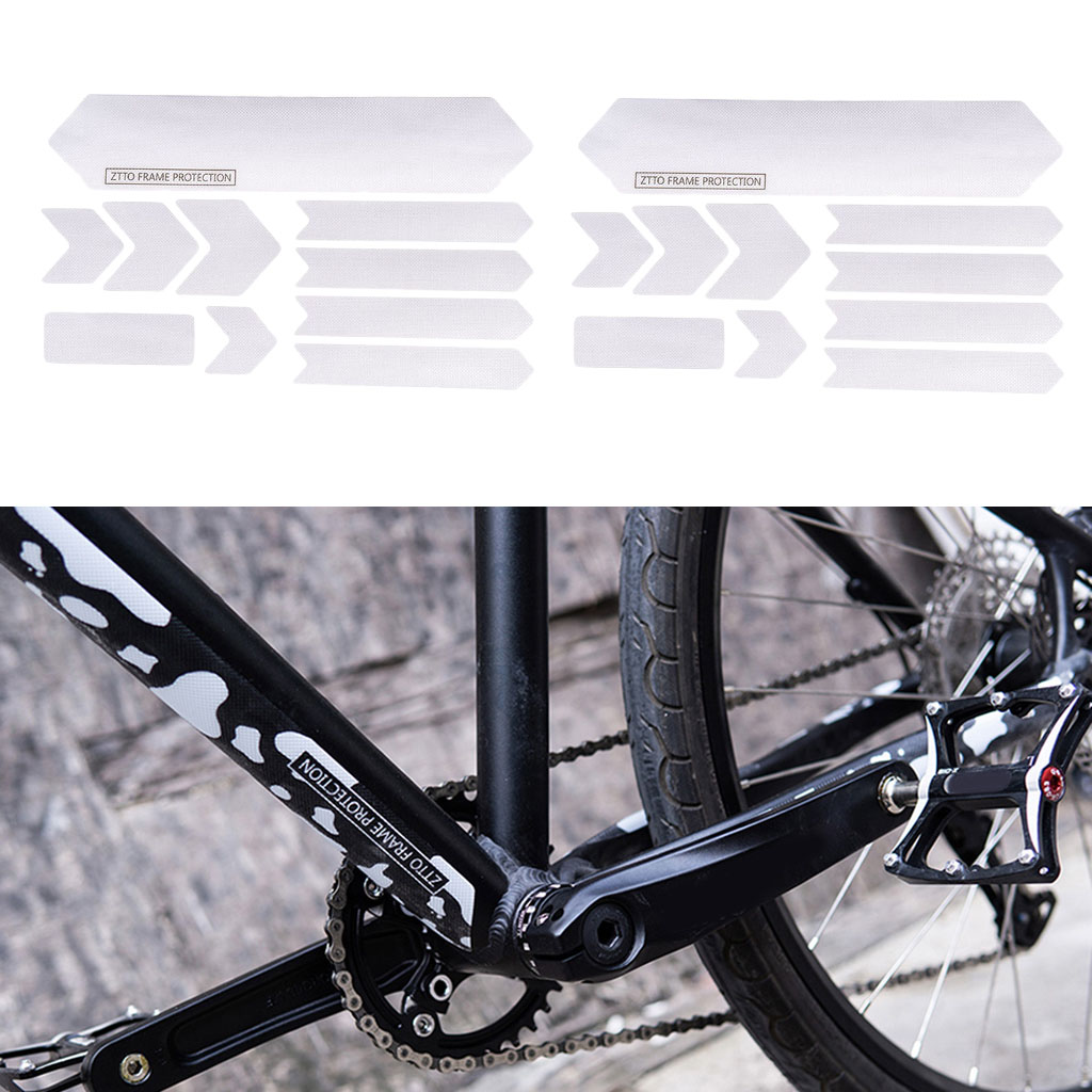 2 x Bicycle Frame Stickers Protector MTB Bike 3D Structure Body Cover|Bicycle Stickers| |  - title=