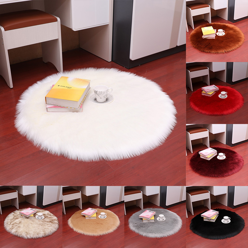 Bedroom Dining Room Carpet Area Rug Round Fluffy Rugs 1PC Hot Sale Home Decoration Floor Mat High Quality Anti-Skid Shaggy