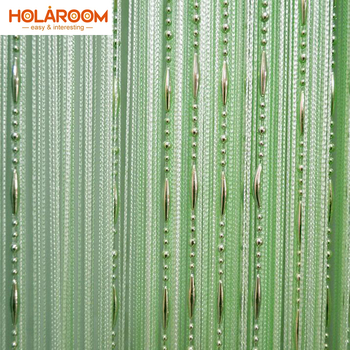 12 Color Beads Line Curtain Modern Yarn Dyed Curtains for Home Living Room Door Hotel Cafe Interior Decoration Solid Curtain