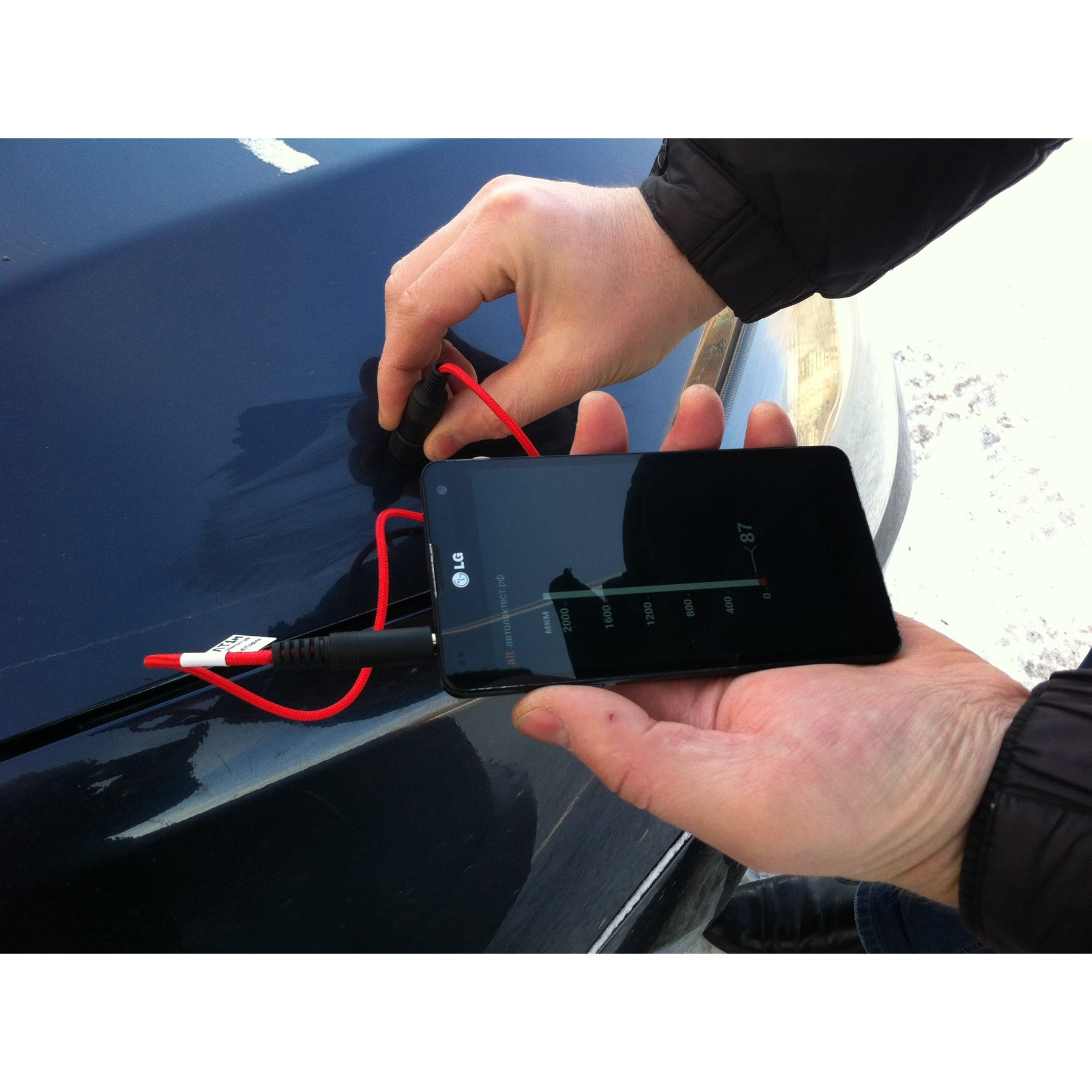 Автолактест Avtolaktest NEW Professional Paint Film Thickness Meter 3,5mm Jack IPhone Android ALT1-M Alt1m
