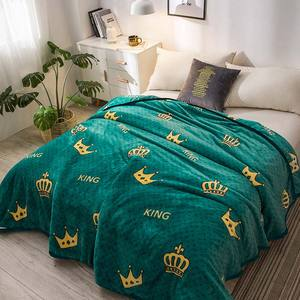 Papa&Mima thin throws blanket fleece plaids multisize bedsheet multifunctional bedspread(China)
