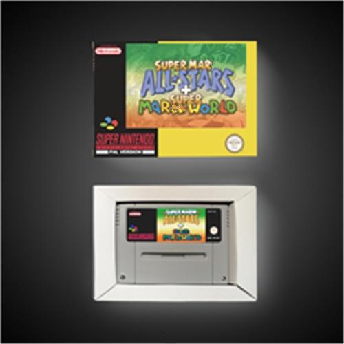 Süper Marioed tüm yıldız + süper Marioed dünya EUR sürümü RPG oyun kartı pil tasarrufu perakende kutusu ile