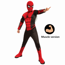 4-12Y Muscle Superhero Marvel Spiderman Criança Longe de Casa Crianças Halloween Trick-or-treating Cosplay Costume Party Carnaval(China)