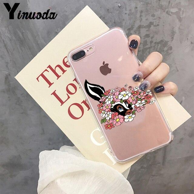 Yinuoda belle Bambi et pouces accessoires de téléphone de luxe étui pour iPhone 8 7 6 6S Plus X XS max 10 5 5S SE XR Coque Coque