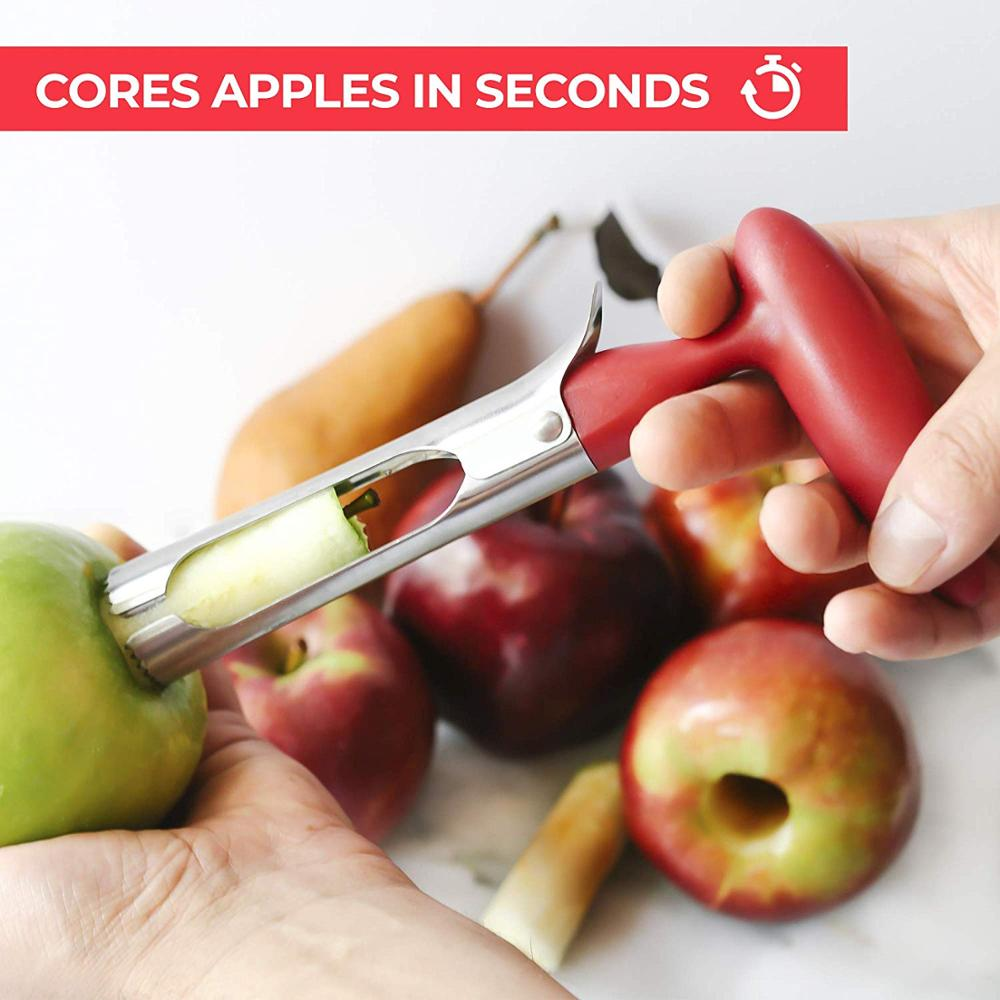 Newness Premium Apple Corer Remover Stainless Steel Apple Pineapple Pear Core Remover Cupcake Corer Kitchen Gadgets
