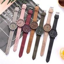 Ретро простые женские часы женские повседневные кварцевые наручные часы многоцветный кожаный ремешок новые женские часы reloj mujer/C