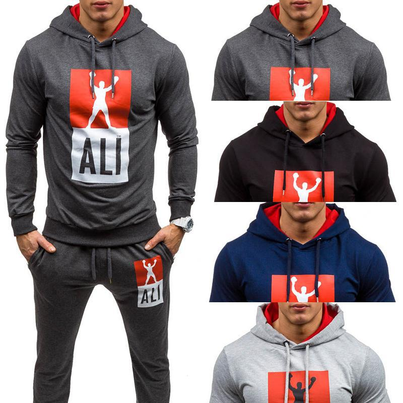 2019 Spring And Autumn New Style MEN'S Sport Suit Europe And America Men Pullover Slim Fit Hoodie Fashion