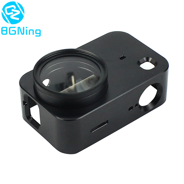 Aluminum Protective Frame Mount for Xiaomi Mijia Mini 4K Action Camera Housing Case Protector with UV Lens Cover Camera Border