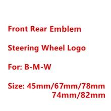 82 мм Эмблема для капота автомобиля 74 мм логотип багажника 45 мм наклейка на руль углеродный синий белый черный красный Стайлинг