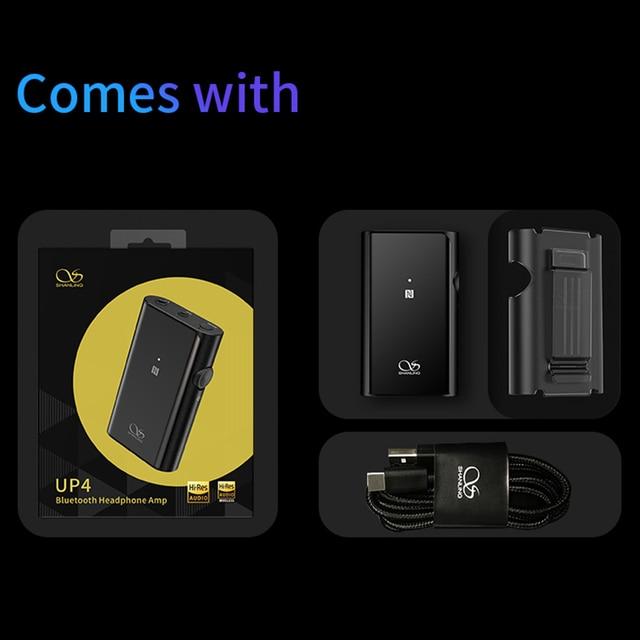 SHANLING UP4 Amplifier Dual ES9218P DAC/AMP Portable HiFi Bluetooth 5.0 Balanced Output Headphone Amplifier 5