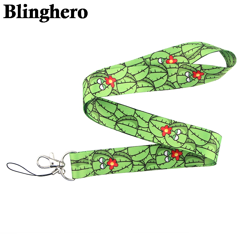 CA622 Wholesale 20pcs/lot Cactus Lanyard Neck Strap for key ID Card Cellphone Straps Badge Holder DIY Hanging Rope Neckband