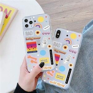 Cute Cartoon Label Phone Case For Huawei P40 P30 P20 Lite Mate 30 Pro 20 lite P smart Nova 5t For Honor 20 10 8X V20 Soft Case(China)