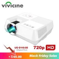 VIVICINE Android HD проектор 1280x800 пикселей беспроводной WIFI Miracast Airplay Bluetooth опционально Портативный 1080p TV PC домашний проектор