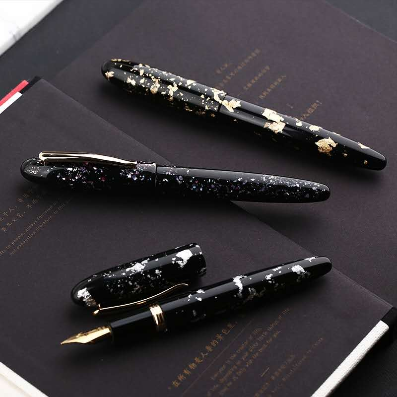 Moonman M8 Fountain Pen Beauitiful Resin Ink Pen Converter Filler Golden Clip Stationery Office School Supplies Writing Gift