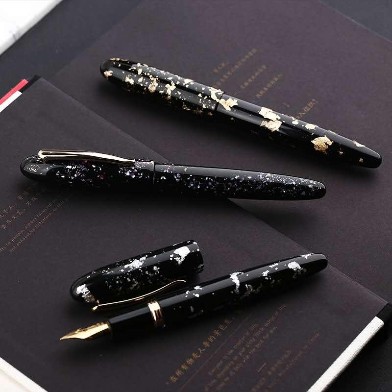 Moonman M8 Fountain Pen Beauitiful Resin Ink Pen Converter Filler Golden Clip Stationery Office School Supplies Writing Gift