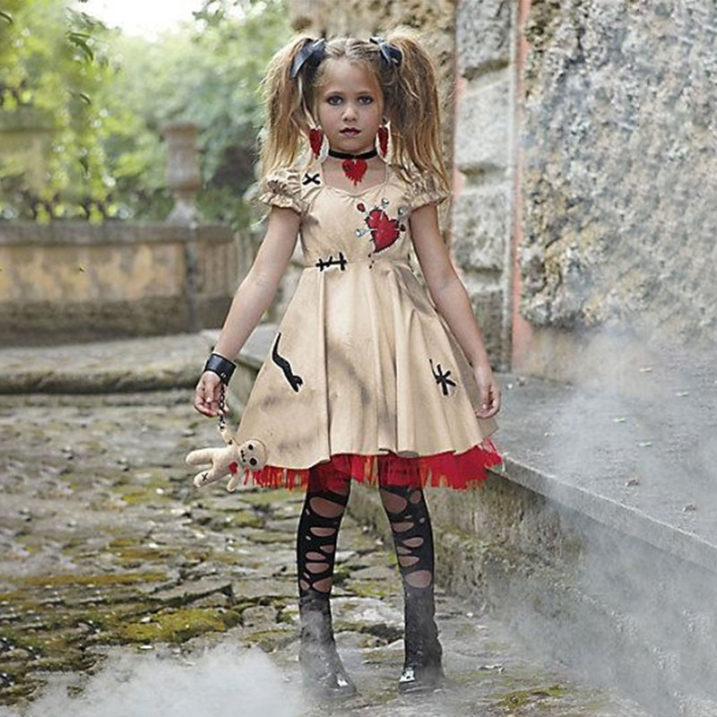 Wedding Ghost Bride Cosplay Voodoo Doll Costumes Costume Masquerade Sexy Party Dress Anime Cosplay Girls Vampire Ghost Wedding