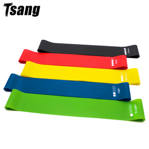 Tsang 5 Colors Yoga Resistance Rubber Bands Home Fitness Equipment 0.35mm-1.1mm Pilates Sport Training Workout Elastic Band