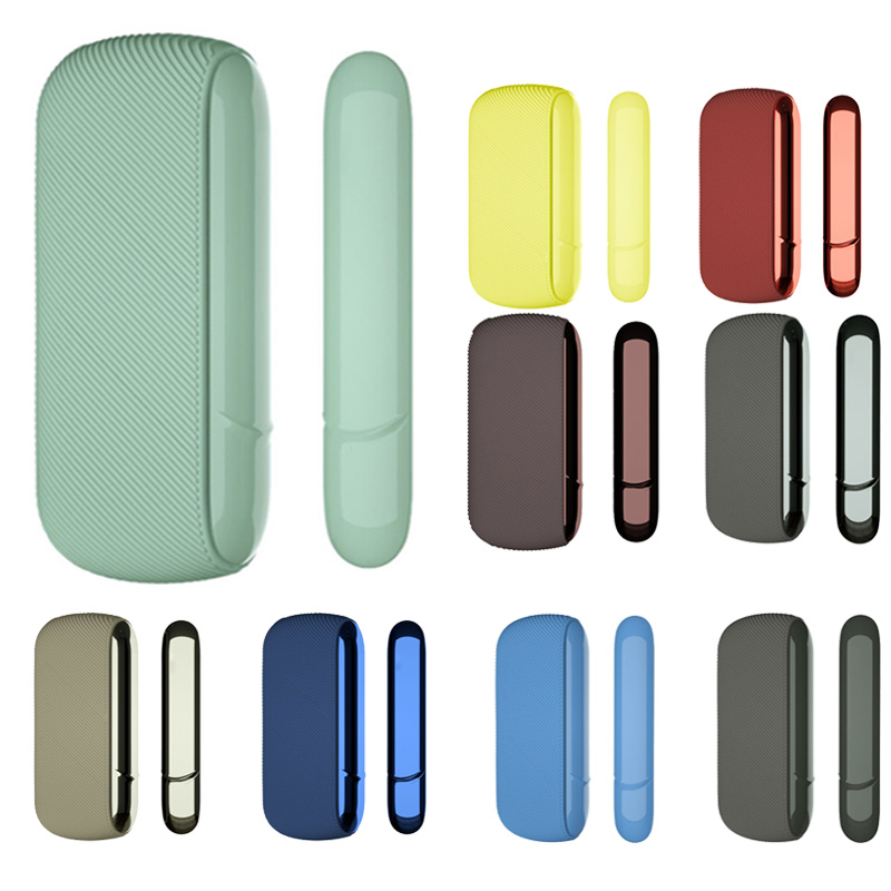9 Colors Fine Twill Silicone Side Cover Full Protective Case Pouch For IQOS 3.0 Outer Case For IQOS Accessories