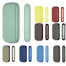 9 farben Feine Twill Silikon Seite Abdeckung Volle Schutzhülle Tasche für IQOS 3,0