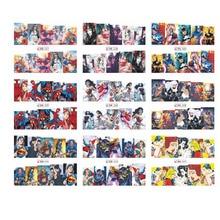 12 pçs transferência de água marca dwaterágua projetos bonitos arte decalque adesivo carimbar beleza manicure decoração do prego comic dos desenhos animados