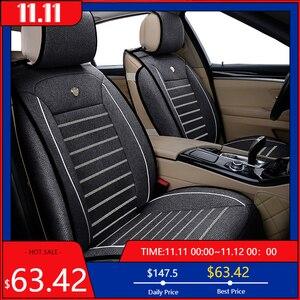 Image 1 - New Luxury flax Universal car seat cover for hyundai Elantra solaris tucson Zhiguli veloster getz creta i20 i30 ix35 i40 Car