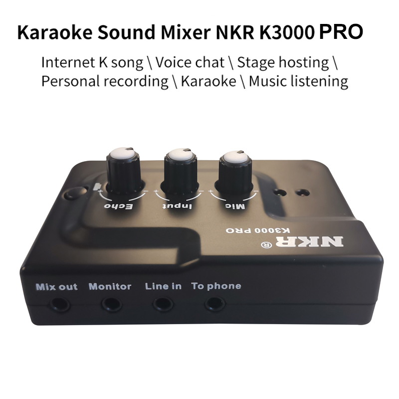 lowest price Professional Live Broadcast Recording Sound Card Echo Audio Interface External Dual Inputs Plug and Play for Mic Phone Musicial