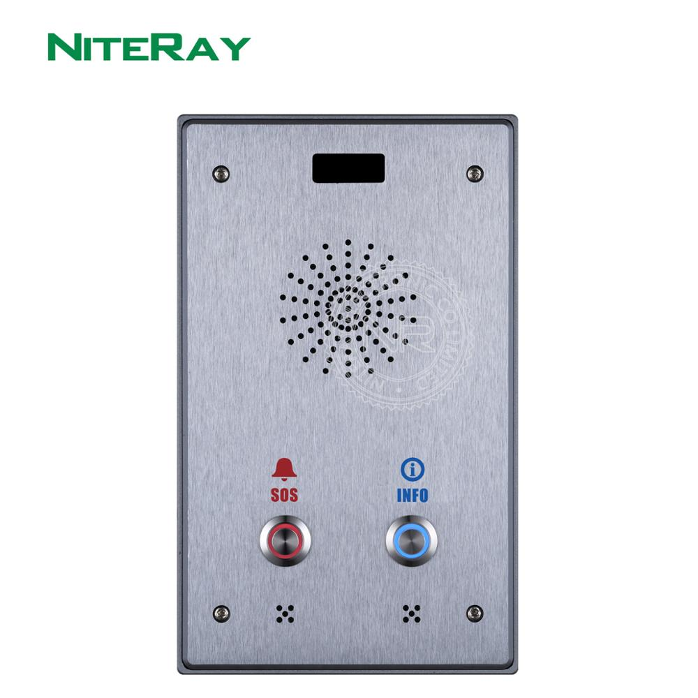 2019 NEW Two Keys IP Door Phone With Waterproof Design Bell SOS Intercom
