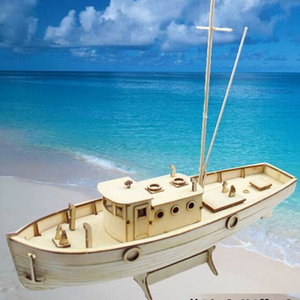 1/30 Nurkse Assembly Wooden Sailboat DIY Wooden Kit Puzzle Toy Sailing Model Ship Gift for Children and Adult