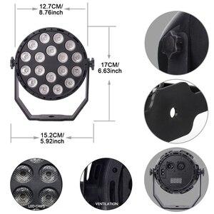 Image 3 - Aimkeeg 18 LED UV oświetlenie urządzenia do wytwarzania efektów świetlnych profesjonalne oświetlenie sceny Disco projektor dla dj a maszyna do Party z bezprzewodowego pilota zdalnego sterowania