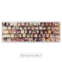PBT 108 tuşları Ahegao keycaps japon animesi XDA hediye kutusu womier K66 \ ducky bir 2 sf için geçerli kiraz anahtarı mekanik klavye
