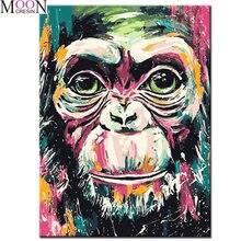 Новая алмазная живопись «сделай сам» цветная обезьяна Вышивка