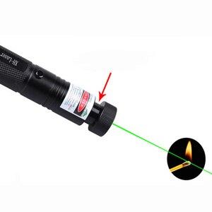 Image 5 - עוצמה 532nm צבאי 8000m ירוק לייזר פוקוס מתכוונן מצביע לייזר עט אור שריפת Beam הכוכבי ראש