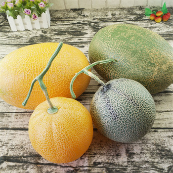 big faux cantaloupe fake fruit model honeydew melon Artificial Simulation fruit for shopping mall shop decoration photo props image